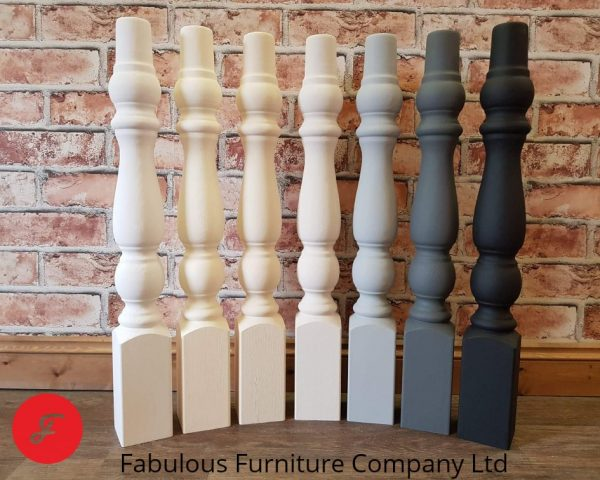 handmade spindle table legs multi colour