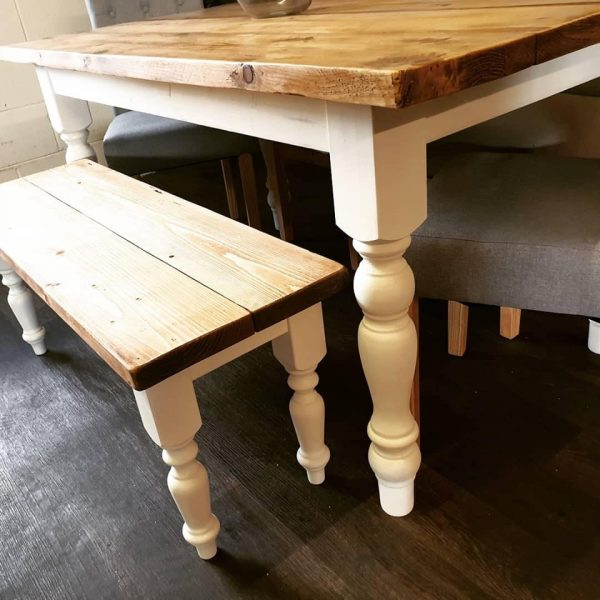 hand made farmhouse dining room table