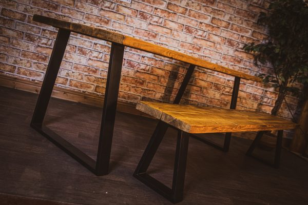 trapezium style hand made table