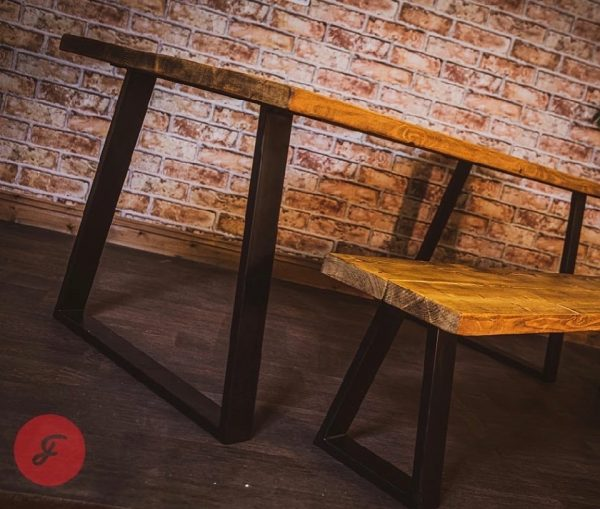 trapezium handmade bespoke dining room table