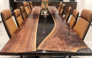handcrafted boardroom table